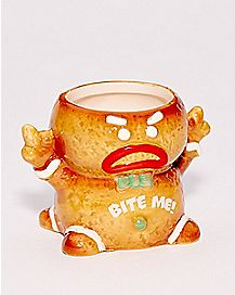 Angry Gingerbread Shot Glass