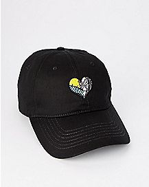 Jack and Sally Heart Dad Hat - The Nightmare Before Christmas