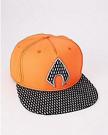 Perforated Aquaman Snapback Hat - DC Comics