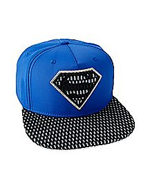 Perforated Superman Snapback Hat - DC Comics
