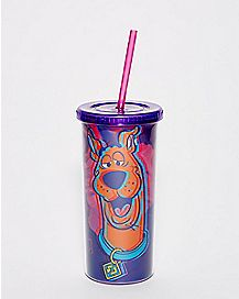 Psychedelic Scooby Doo Cup with Straw - 20 oz