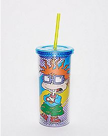 Chucky Finster Cup With Straw 20 oz. - Rugrats