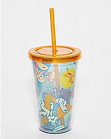 Rocko's Modern Life Cup With Straw 16 oz. - Nickelodeon