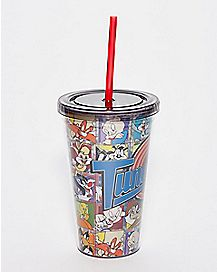 Looney Tunes Cup With Straw and Ice Cubes - 16 oz.