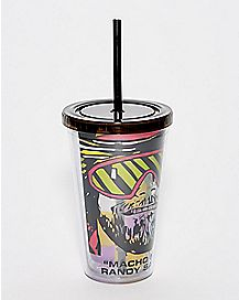 Macho Man Randy Savage Cup With Straw - 16 oz.