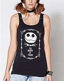 The Master Of Fright Jack Skellington Tank Top - The Nightmare Before Christmas
