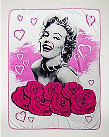 Roses Marilyn Monroe Fleece Blanket