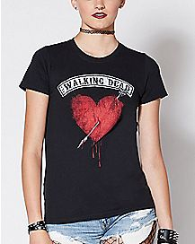 Heart Wings The Walking Dead T Shirt
