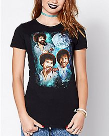 Moon Bob Ross T Shirt