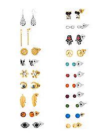 Multi-Pack Stud and Dangle Earrings - 20 Pair