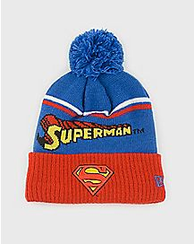 Pom Superman Beanie Hat - DC Comics