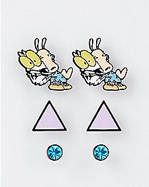 Rocko's Modern Life Stud Earrings 3 Pair - Nickelodeon