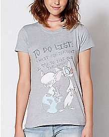 To Do List Pinky And The Brain T Shirt