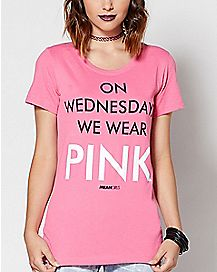 On Wednesday's We Wear Pink T Shirt - Mean Girls