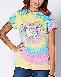 Tie Dye Aaahh Real Monsters T Shirt - Nickelodeon