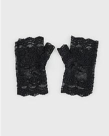 Short Rose Lace Gloves