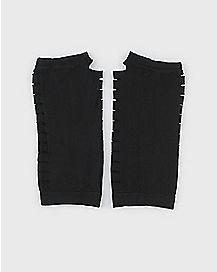Long Black Slit Gloves