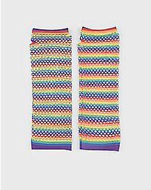 Mesh Rainbow Gloves