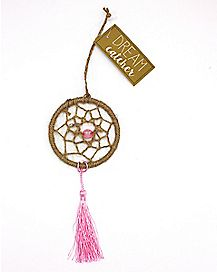 Pink Crystal Stone Dreamcatcher