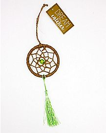 Green Crystal Stone Dream Catcher