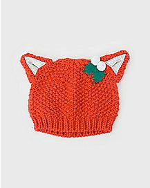 Cat Ears Christmas Beanie Hat