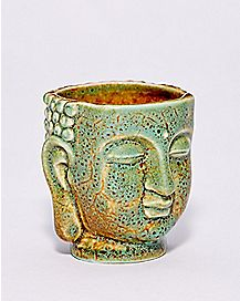 Antique Green Buddha Shot Glass - 2 oz.