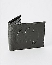 Leather Batman Bifold Wallet with Gift Box