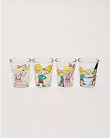 Hey Arnold Shot Glasses 4 Pack 1.5 oz. - Nickelodeon