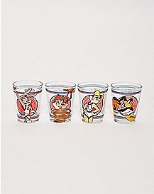 Space Jam Shot Glasses 4 Pack 1.5 oz - Looney Tunes