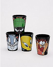 Looney Tunes Shot Glasses 1.5 oz. - 4 Pack