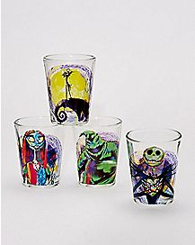Pastel Mini Glass 4 Pack 1.5 oz. - The Nightmare Before Christmas