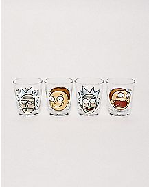 Rick and Morty Shot Glasses 4 Pack - 1.5 oz.
