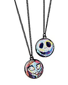 Jack and Sally Best Friend Necklaces 2 Pack - The Nightmare Before Christmas