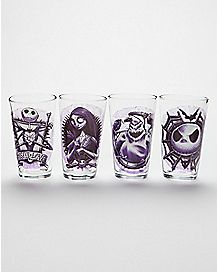Purple The Nightmare Before Christmas Pint Glass Set 4 Pack - 16 oz.