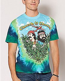 Tie Dye Cheech and Chong T Shirt