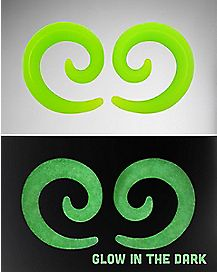 Green Silicone Spiral Tapers