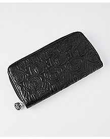 Quilted Rose Zip Wallet