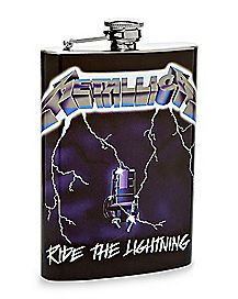Ride The Lightning Metallica Flask 8 oz. - The Master Collection