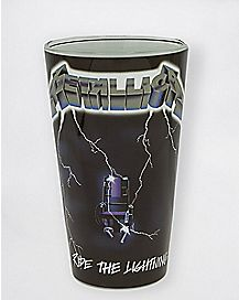 Ride The Lightning Metallica Pint Glass 16 oz. - The Master Collection