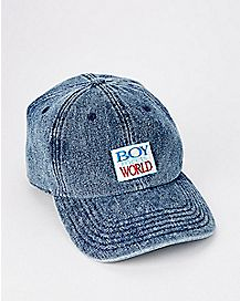 Denim Boy Meets World Dad Hat