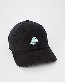 Black Dad Hat With Embroidered Dad Hat