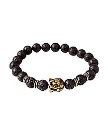 Lava Bead Buddha Bracelet