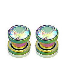 Rainbow CZ Plugs