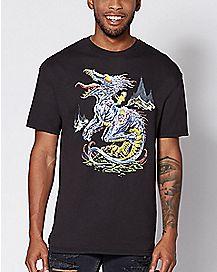 Dragon Rick and Morty T Shirt