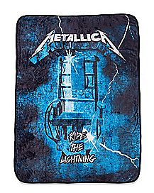 Ride The Lightning Metallica Fleece Blanket - The Master Collection