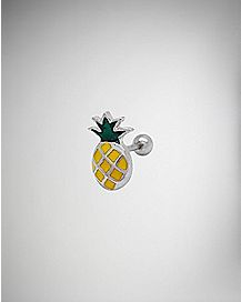 Pineapple Cartilage Earrings - 16 Gauge