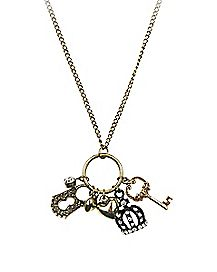 Key Crown Lock Necklace
