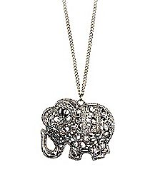 Filigree Elephant Necklace