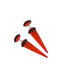 Red Fake Tapers