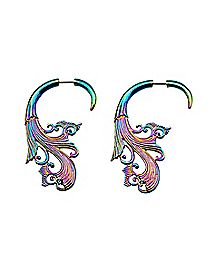 Rainbow Filigree Fake Spiral Tapers - 18 Gauge